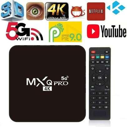TV BOX ANDROID 9.0 I 4K FULL HD 1080P 4GB 32GB RAM SMART DECODER WIFI MXQ PRO image 1