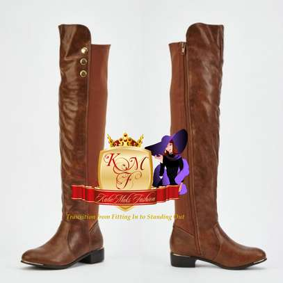 Flat Above Knee Boots image 5
