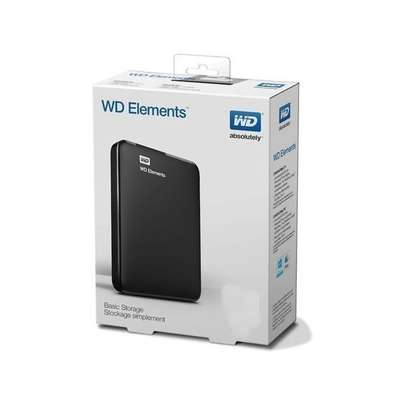 WD ELEMENT 320GB External Hard Disk Drive With Cable - Black image 1