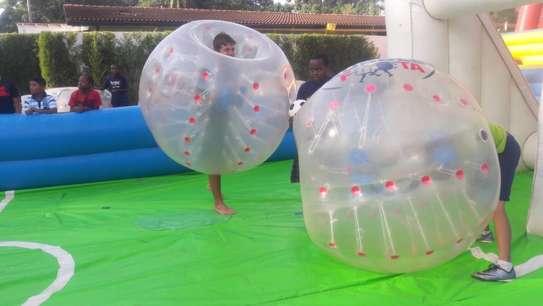Bubble soccer/bumper balls for hire