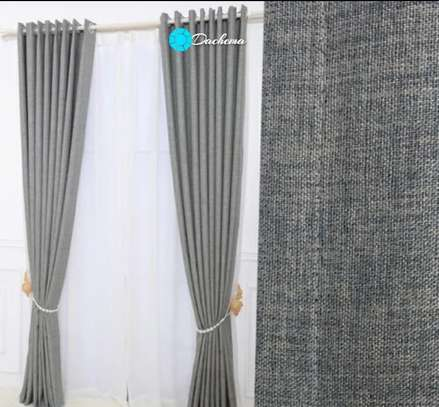 grey linen curtains image 1