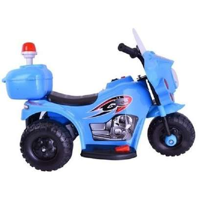Small Size Kid's Ride On Motorcycle- BLUE(Assembled) image 2