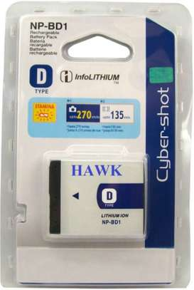 Sony Battery Lithium Ion NP-BD1 For Sony Cybershot Cameras image 1