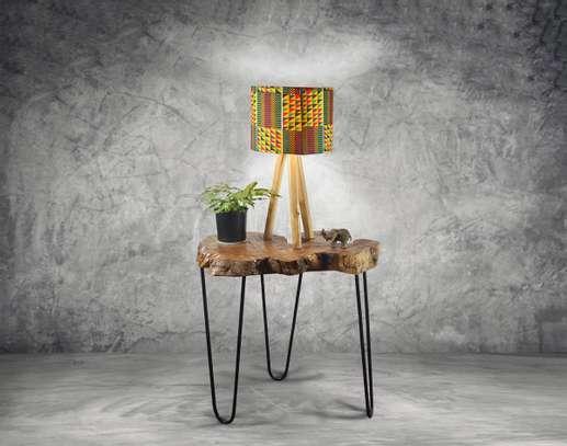 Trio Tableside Lamp - Kente Shade image 1