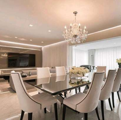 Six seater dining table/Modern dining set/Dining room designs image 1