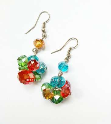 Colorful Crystal earrings image 1