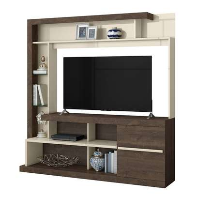 TV Wall Unit Rack ( Belaflex Tulum) - TV Space up to 55 Inches TV Space image 1