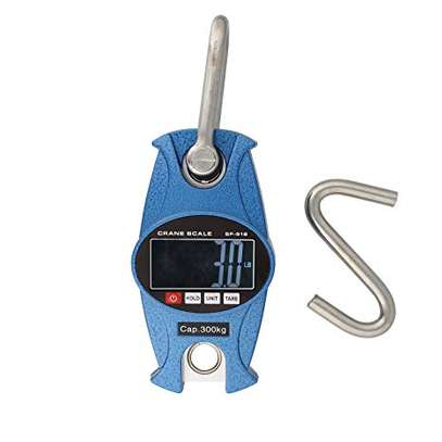 50/300kg Mini Crane Scale LCD Electronic Heavy Duty Hanging Weight Hook Scales image 1