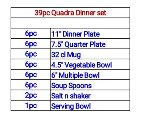 Quadra Autumn dinner set image 2