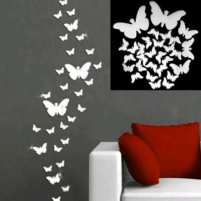 3D Mirror Butterfly Wall Stickers