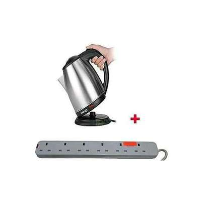 Cordless Electric Kettle - 2 Litres+ a FREE 6-way Extension Cable image 1
