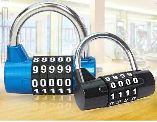 5 Digit Code Lock Padlock U-shaped Suitcase Door Combination Lock image 1