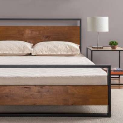 METAL FRAME BED WITH WOODEN FINISH FROM 3*6 TO 6*6 image 2