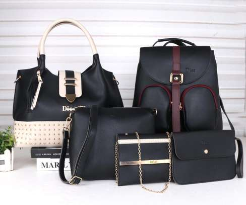 Amazing 5 in 1 Pure leather Handbags image 4