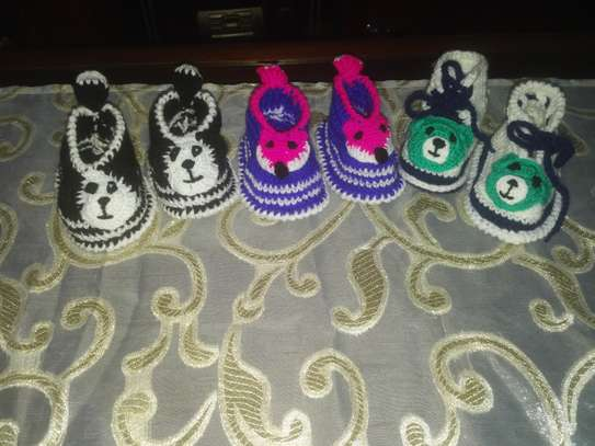 Woolen Baby Shoes(3Pairs offer) image 1