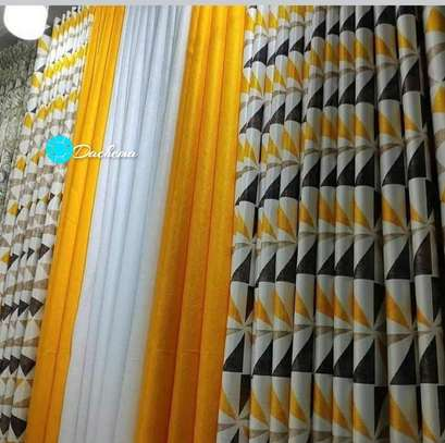 yellow custom-made double sided curtains image 1
