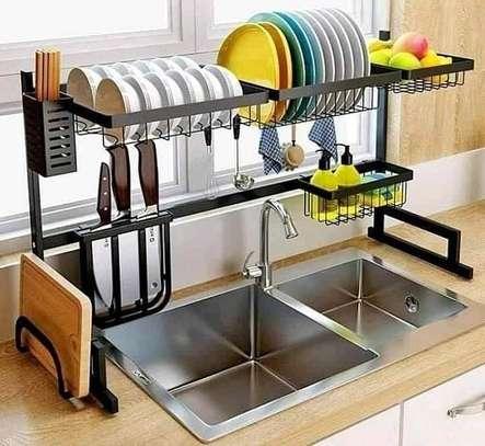 Generic Over The Sink Dish Rack/ Utensil Drainer image 1