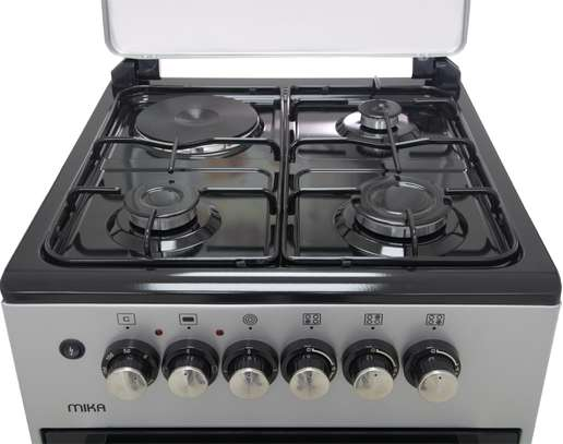 Mika Standing Cooker, 50cm X 50cm, 3 + 1, Electric Oven, Silver - Free Regulator, Pipe and Delivery image 3
