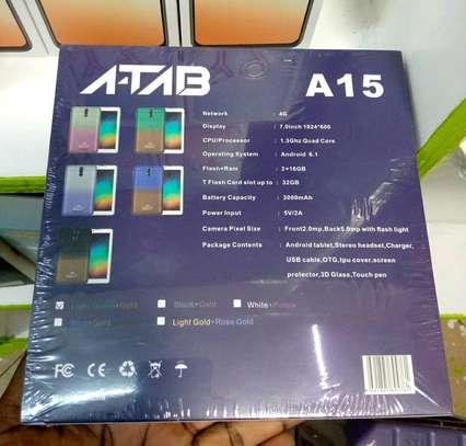 Atab A15 new Tablet 16gb 2gb ram 5mp Camera- Dual Sim Support image 2