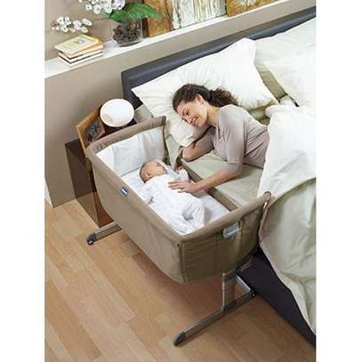 "Side Sleeping Crib Next2Me ""Dove Grey"" Baby Crib Next 2 Me, baby bed,baby cot. image 1"