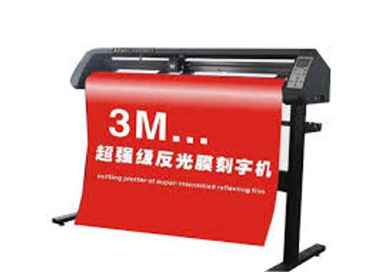 6 Feet Sticker Cutting Plotter Machine With Laser Sensor image 1