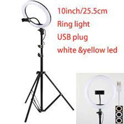 10 inch LED Ring Light with Tripod Stand Photographic Lighting Beauty Selfie Lamp image 1