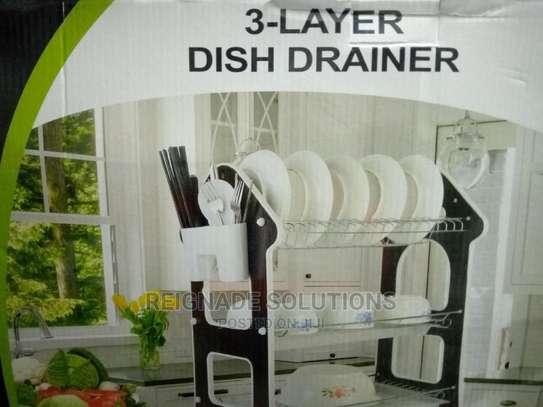 3-Layer Dish Drainer image 1