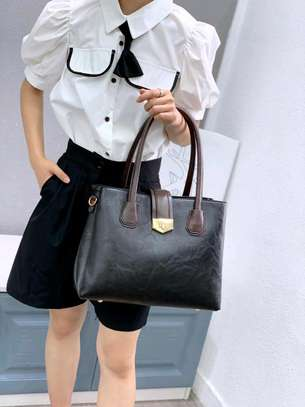Fashion designer black handbag image 1