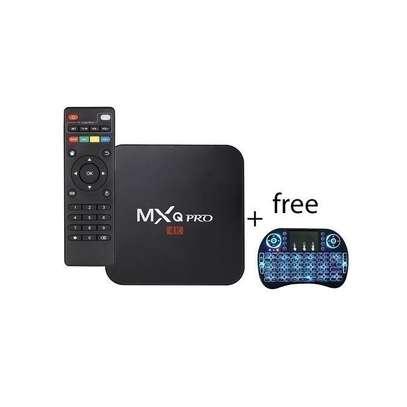 MXQ Pro Smart 4K Android 7.1 TV Box + BackLit Wireless Mini Keyboard image 1