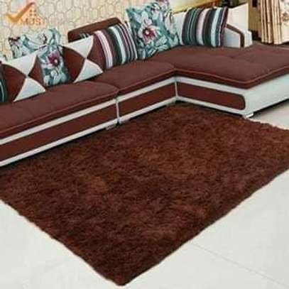 Chocolate fluffy carpets