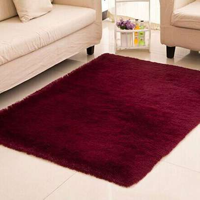 Maroon Soft Fluffy Carpet 5*8 image 3