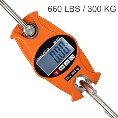mini size hand held crane scale with S-shape hook, 300kg image 1