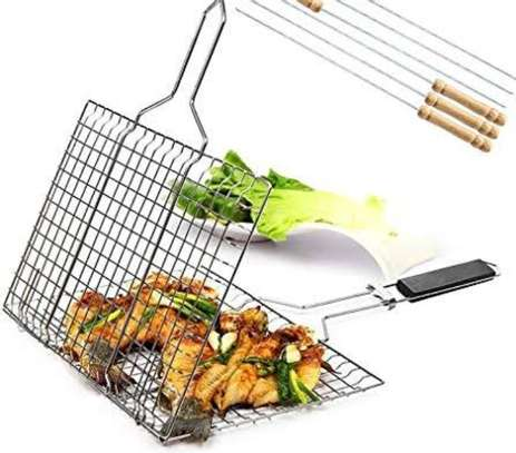 BBQ Barbecue Stainless Steel Mesh image 1