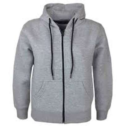 Sweater Hoodie Jacket With Zipper image 1