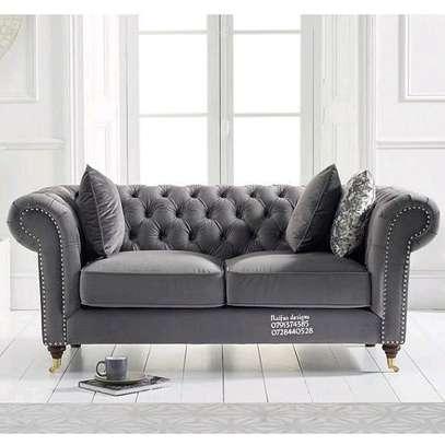 Modern Chesterfield sofas/two seater sofa/grey sofas image 1