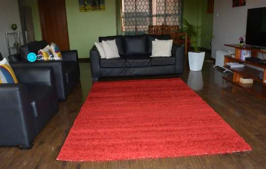 5*8 red shaggy carpets image 1