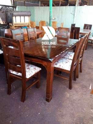 6 Seater Solid Mahogany Wood Sets image 7