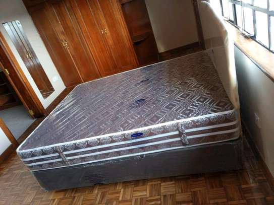 4 by 6 Complete Bed Set with 10inch thick Spring Mattress. We deliver. image 2