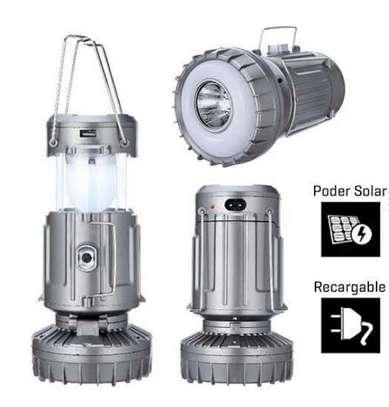 Solar camping lantern led light image 1