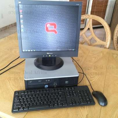 Hp Compaq Dc7900 Intel Core 2 Duo Sff Complete Desktop Computer Set Up image 1