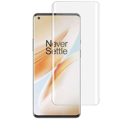 UV tempered glass for OnePlus 8 pro image 1