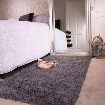 BED SIDE FLUFFY CARPET image 1