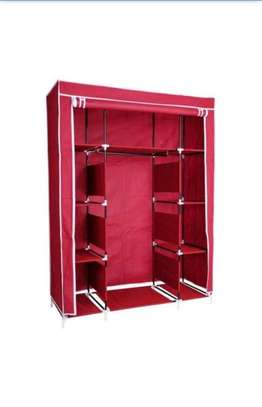 3 COLUMN SOLID WOOD PORTABLE WARDROBE image 4