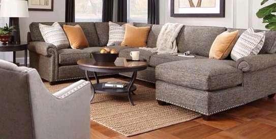 Transitional U shape sofa image 1