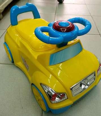 Baby potty cum ride on car 2.5 cc image 2