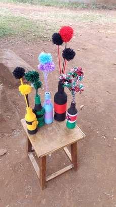 Handmade shaggy rugs and flowers image 2