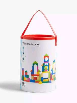 Kids 100 Wooden Blocks image 3