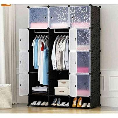 Plastic wardrobe - 3Column - Black