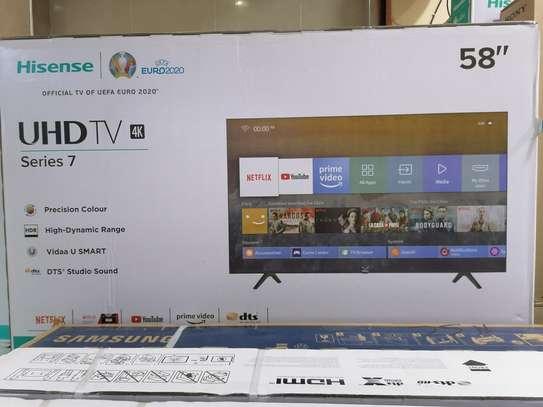 Hisense 58 inch smart 4k uhd led TV frameless image 1