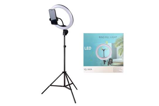 ring light 12 inches with tripod and ring /remote image 1